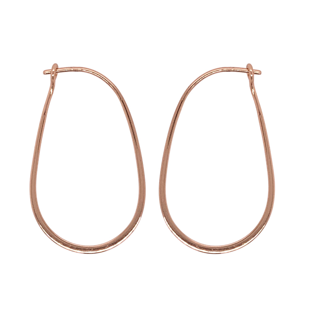 Modern, Oblong Hoop Earrings - The Curated Gift Shop