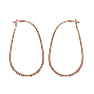 Load image into Gallery viewer, Modern, Oblong Hoop Earrings - The Curated Gift Shop