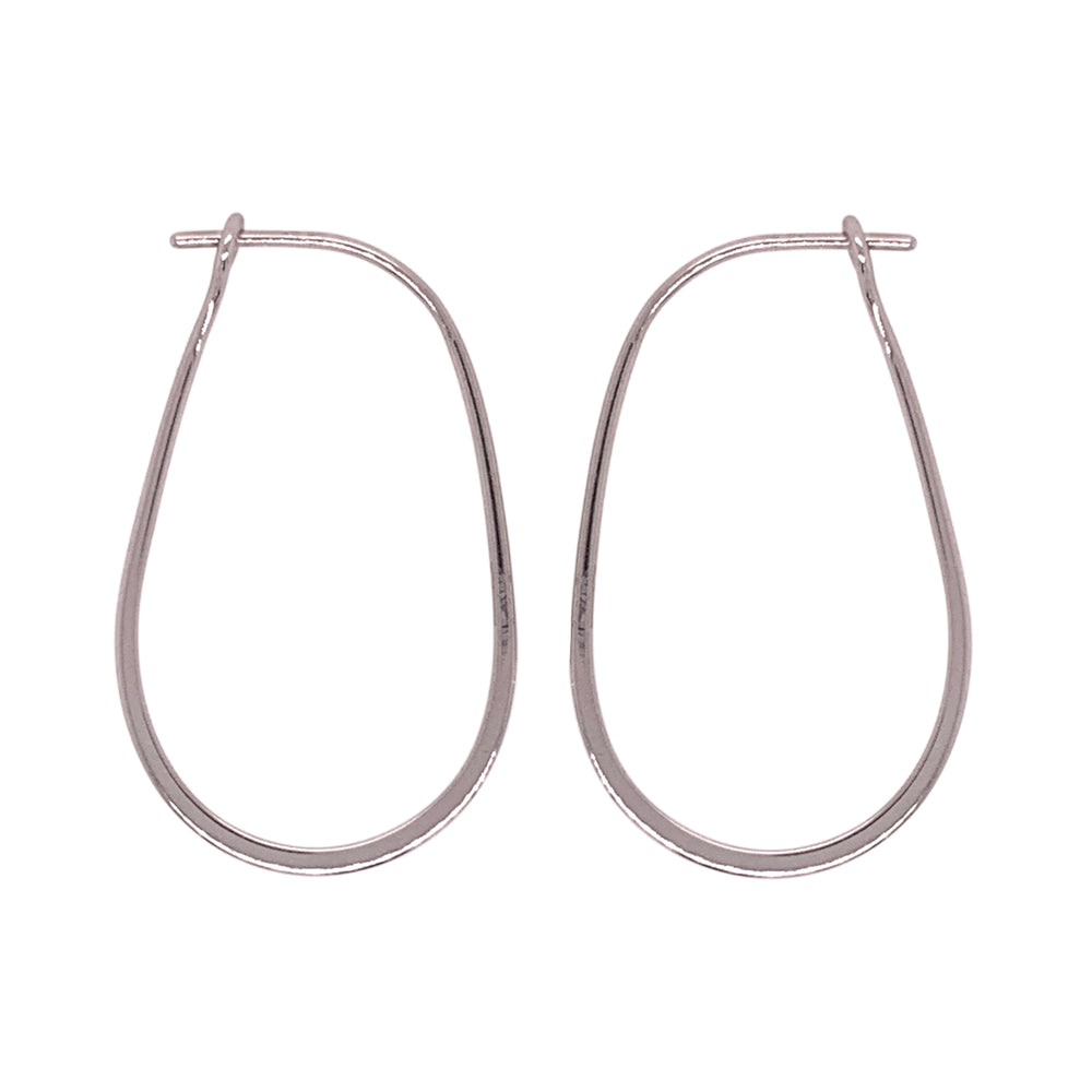 Modern, Oblong Hoop Earrings - King + Curated
