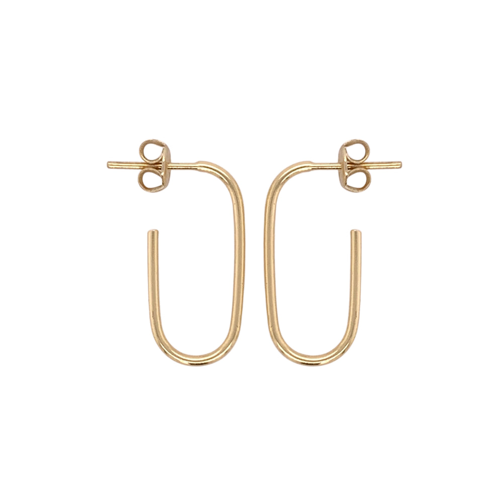 Modern, Open Ended Oblong Earrings - King + Curated