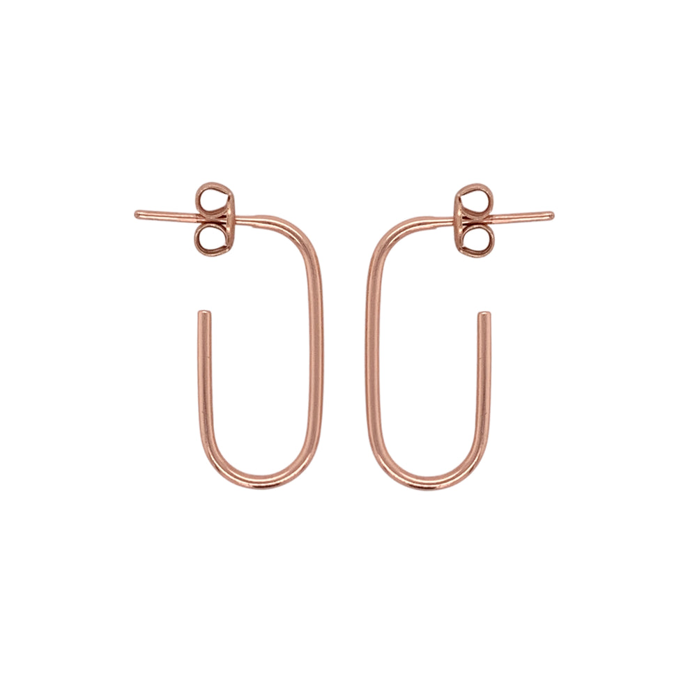 Modern, Open Ended Oblong Earrings - The Curated Gift Shop