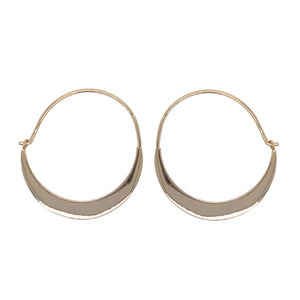 Load image into Gallery viewer, Modern, Quarter Moon Hoops - The Curated Gift Shop