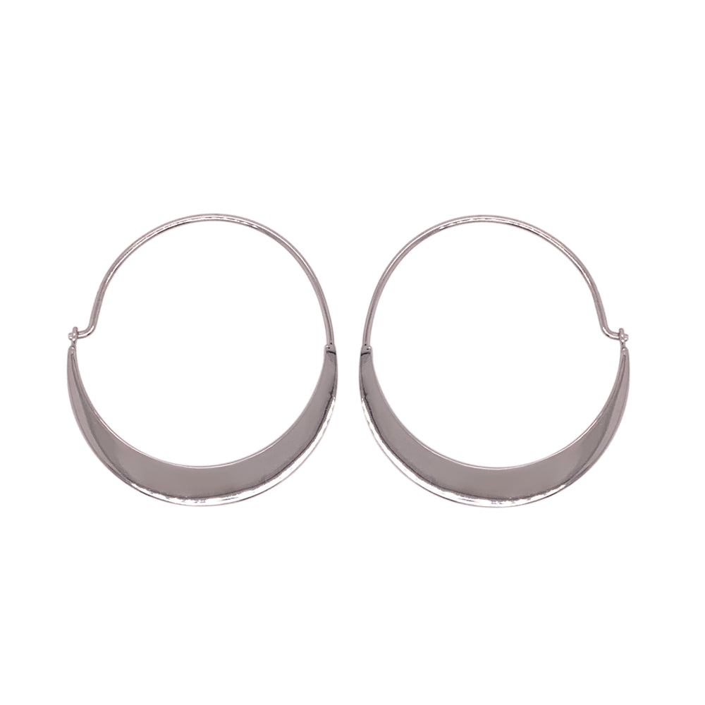 Modern, Quarter Moon Hoops - The Curated Gift Shop