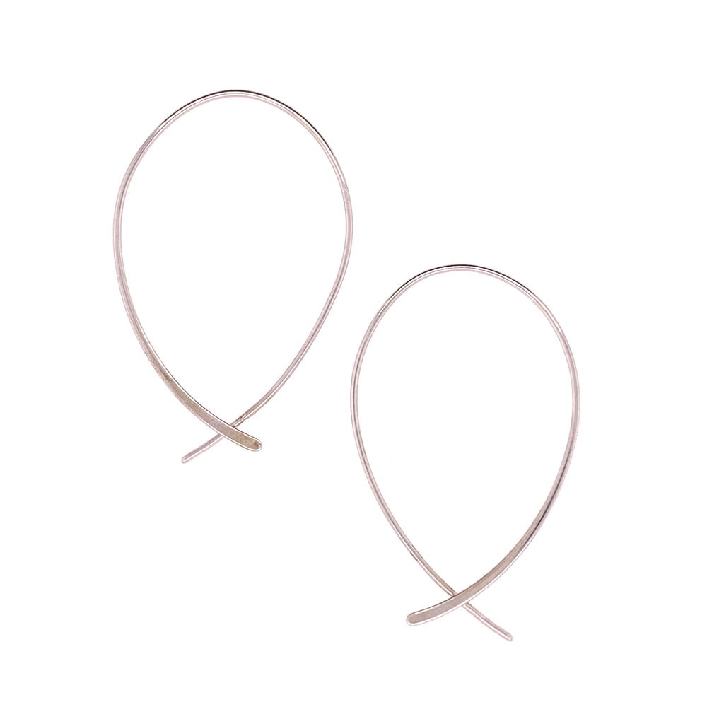 Modern, Inverted Teardrop Hoops - The Curated Gift Shop