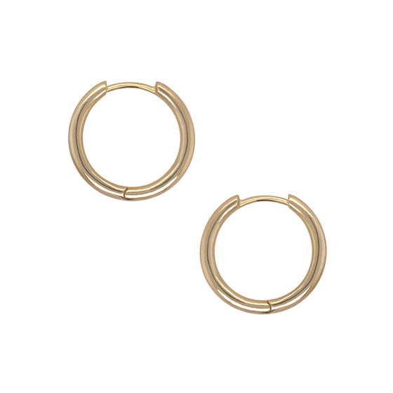 Modern, Thick Hoop Earrings | 20mm - The Curated Gift Shop