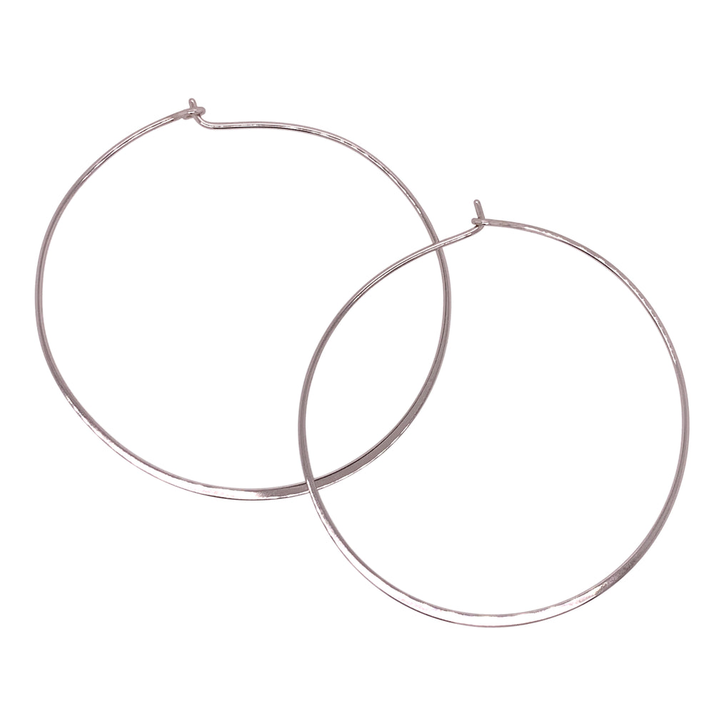 Modern, Thin Hoop Earrings | Large - The Curated Gift Shop