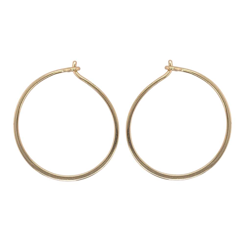 Modern, Thin Hoop Earrings | Small - King + Curated