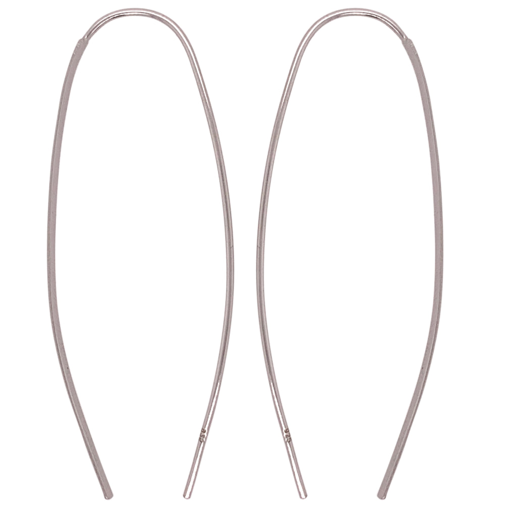 Modern, Thin, Open Ended Earrings - The Curated Gift Shop