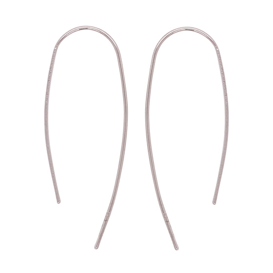 Modern, Thin, Open Ended Earrings