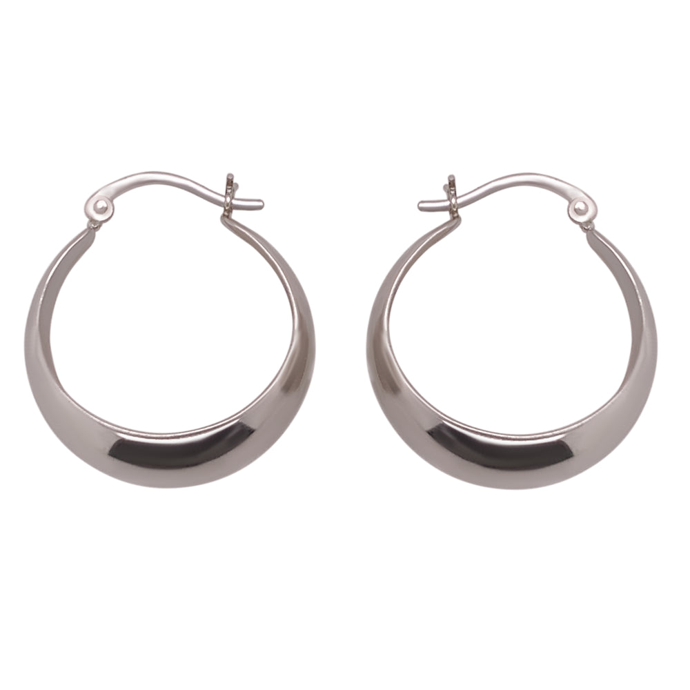 Modern, Wide Tapered Hoops - The Curated Gift Shop