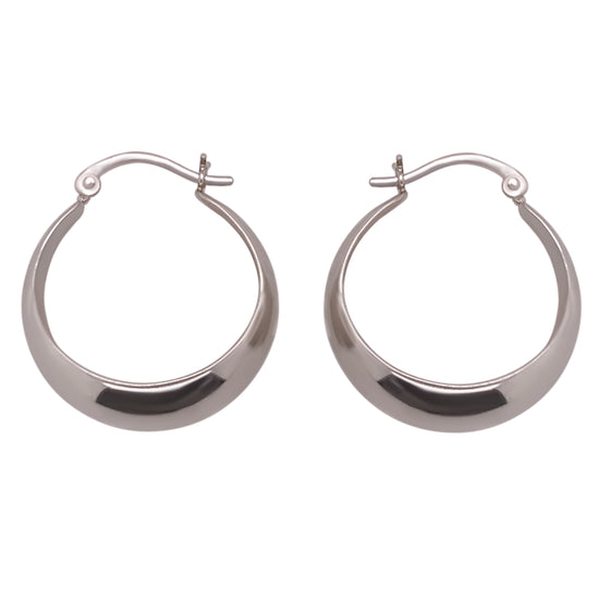 Modern, Wide Tapered Hoops