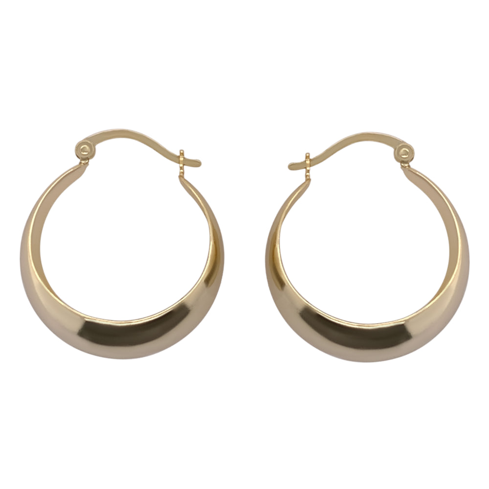 Load image into Gallery viewer, Modern, Wide Tapered Hoops - The Curated Gift Shop