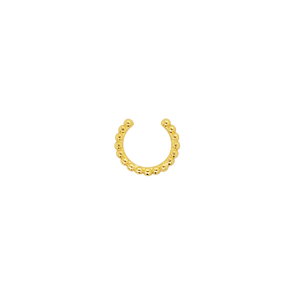 Modern, Beaded Hoop Ear Cuff - The Curated Gift Shop