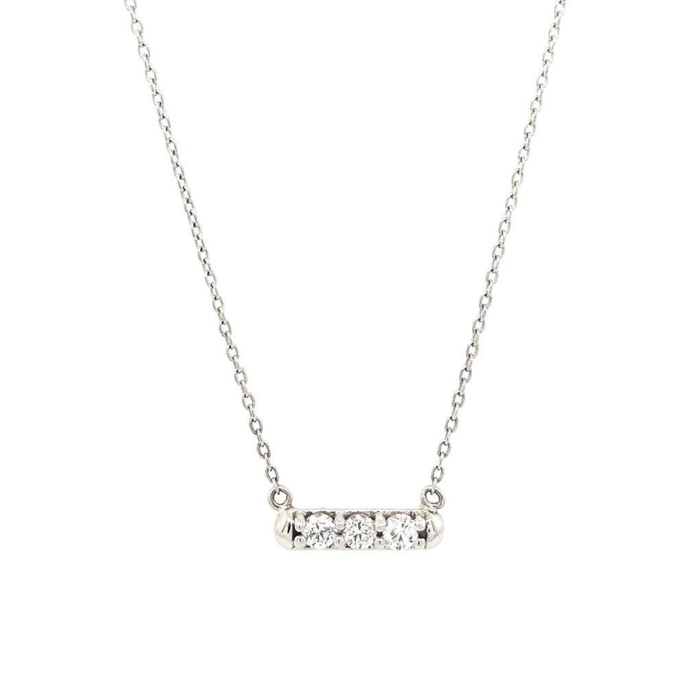 Modernist Three Diamond Bar Necklace - King + Curated