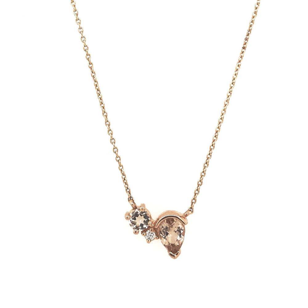 Morganite and Diamond Necklace - King + Curated