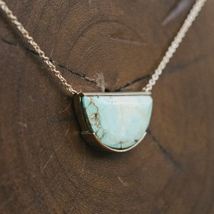 Load image into Gallery viewer, Half Circle, Genuine Turquoise Necklace - The Curated Gift Shop