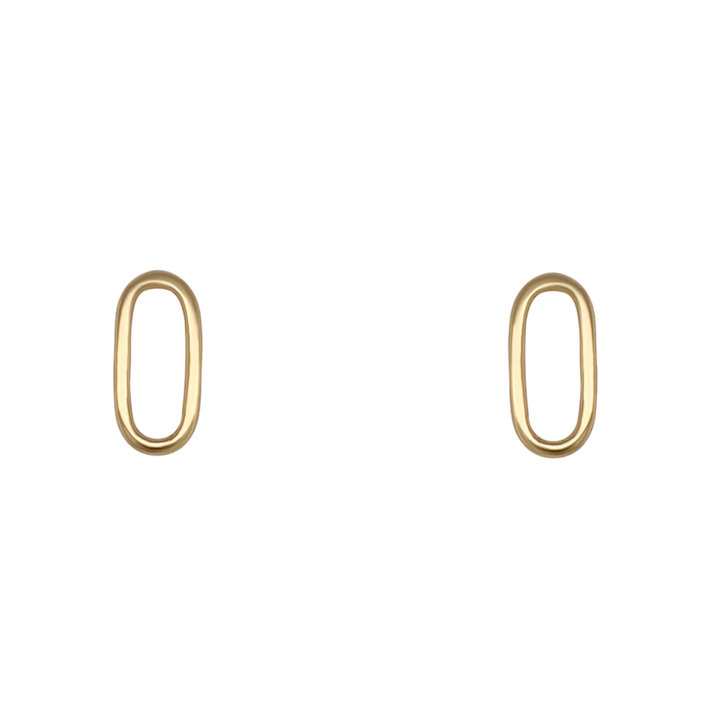 Oval Shaped Studs | Cut Out - The Curated Gift Shop