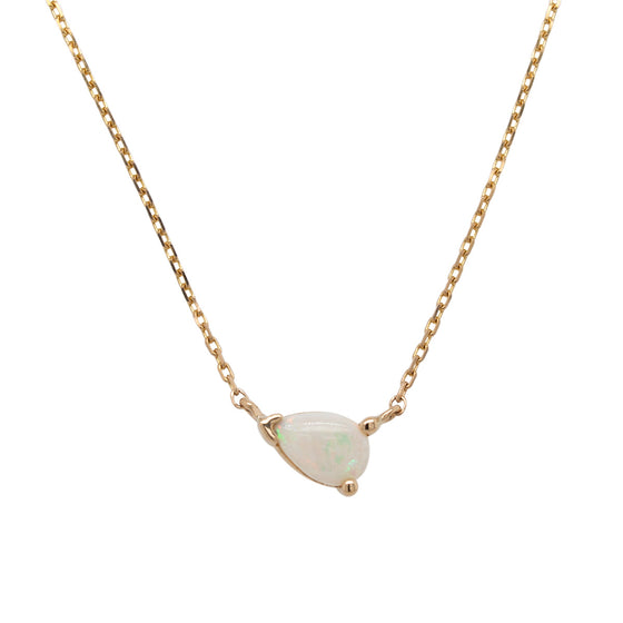 Opal Necklace | Pear Cut