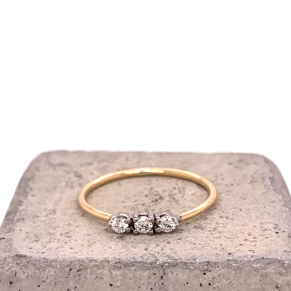 Petite Triple Diamond Ring - The Curated Gift Shop