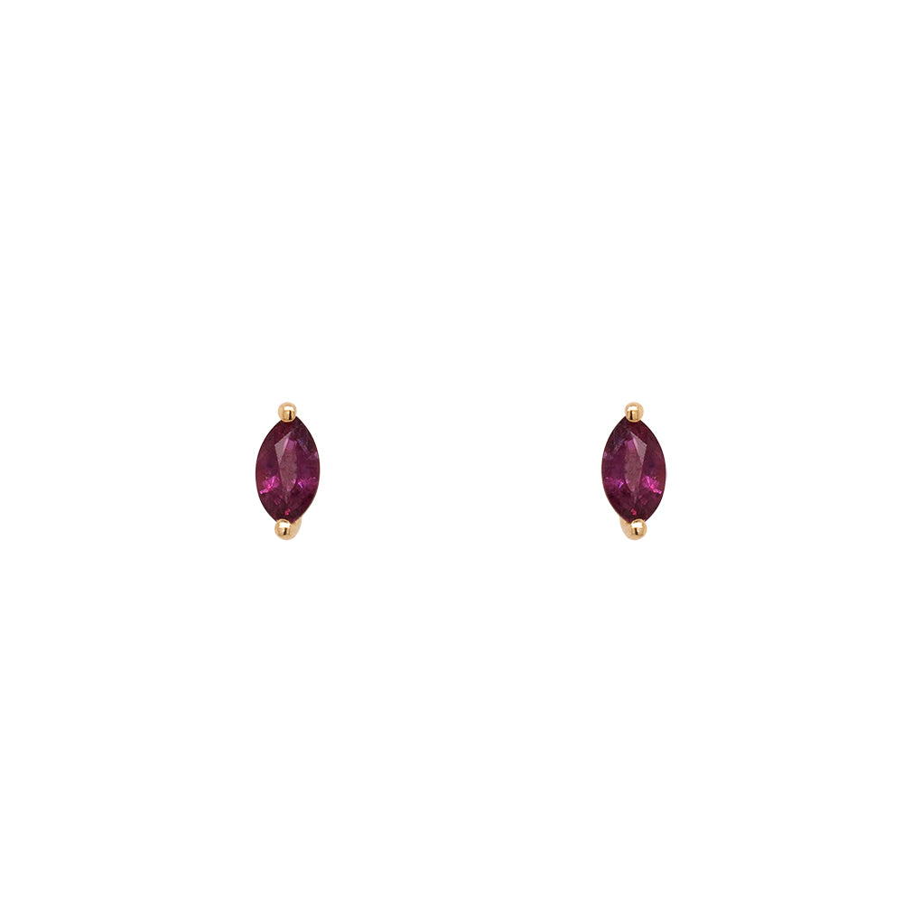 Ruby Studs | Marquise - The Curated Gift Shop