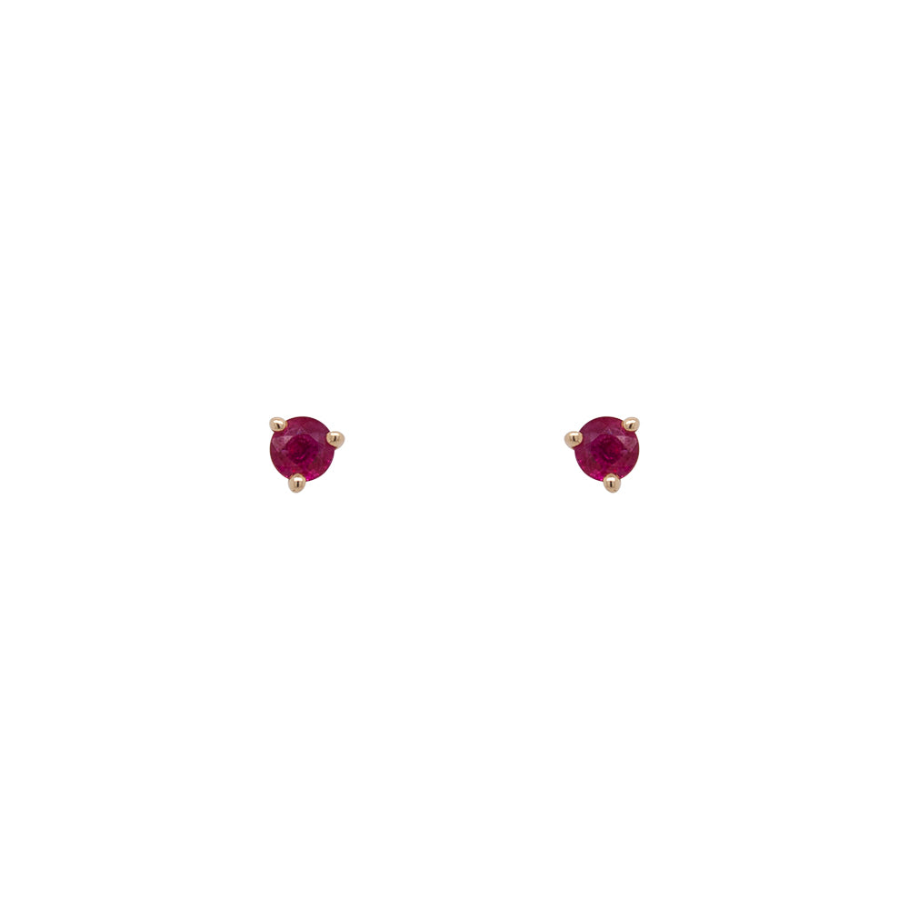 Ruby Studs | Round - King + Curated