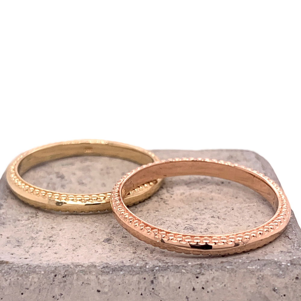 Stacking Band No. 2 | Double Milling - The Curated Gift Shop