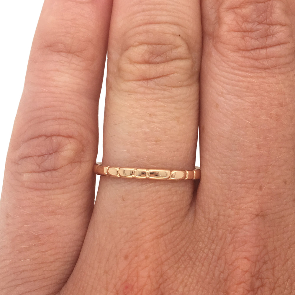 Stacking Band No. 8 | Organic Spaced Lines - The Curated Gift Shop