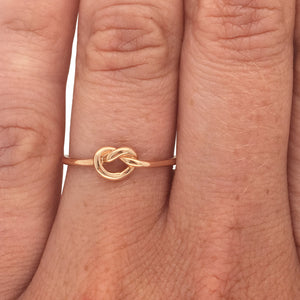 Load image into Gallery viewer, Stacking Band No. 10 | Large Love Knot - The Curated Gift Shop