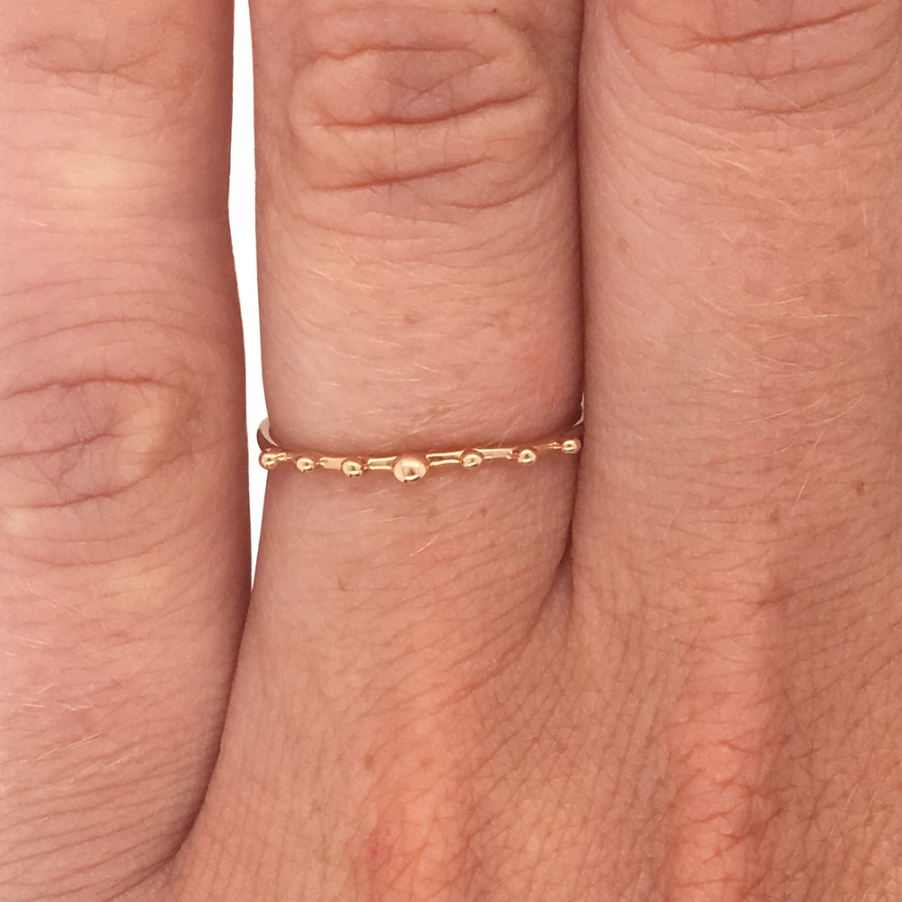 Stacking Band No. 14 | Tiny Gold Balls - The Curated Gift Shop