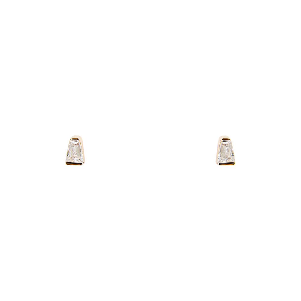 Tapered Baguette Studs - The Curated Gift Shop