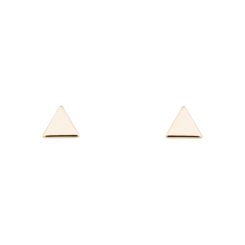 Triangle Stud Earrings | Large - King + Curated