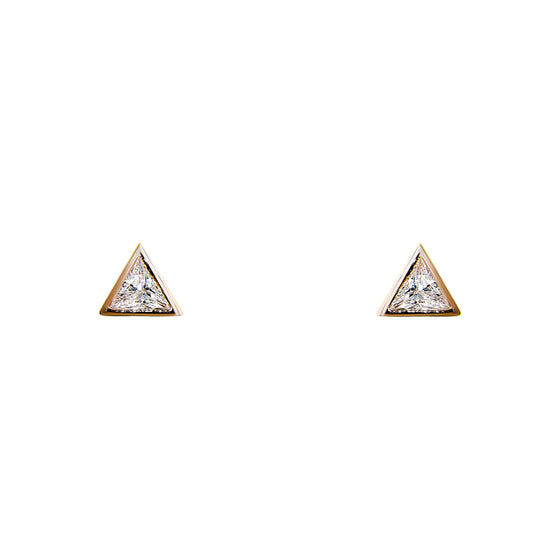 Trillion Crystal Stud Earrings