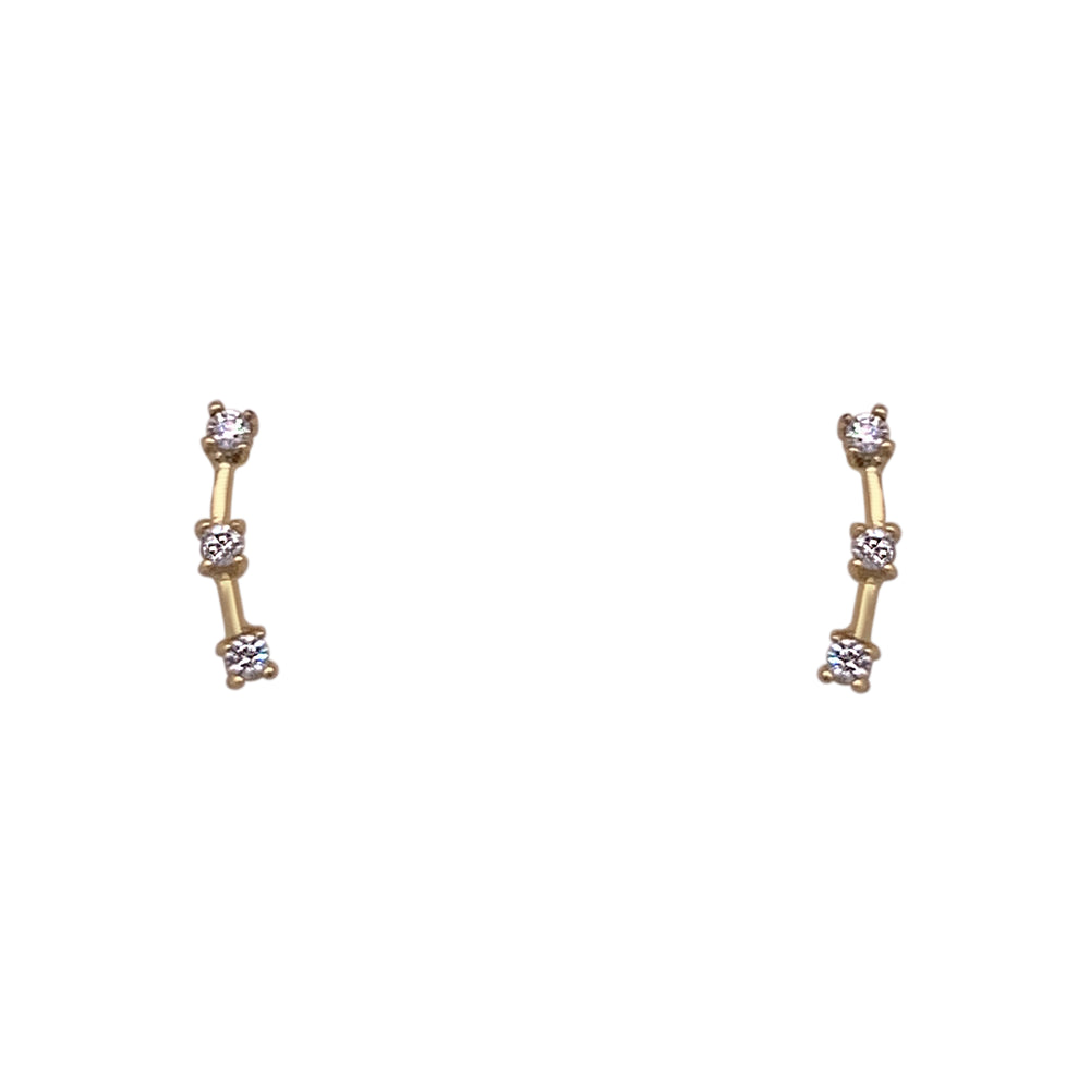 Triple Crystal Climber Earrings | Small - King + Curated