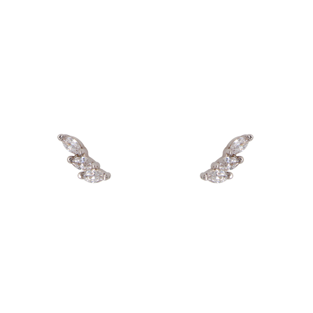 Triple Crystal Studs | Small Marquise - The Curated Gift Shop