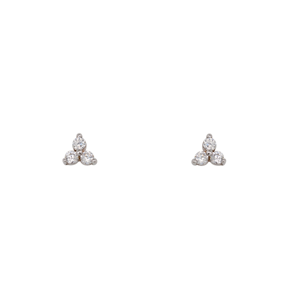 Triple Crystal Studs | Tiny - The Curated Gift Shop