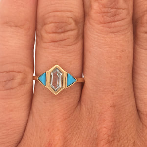 Load image into Gallery viewer, Turquoise And Aquamarine Ring - The Curated Gift Shop