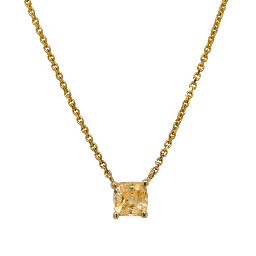 Yellow Sapphire Necklace - The Curated Gift Shop