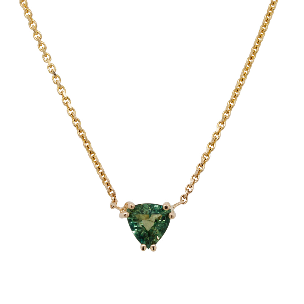 Blue-Green Sapphire Necklace - King + Curated
