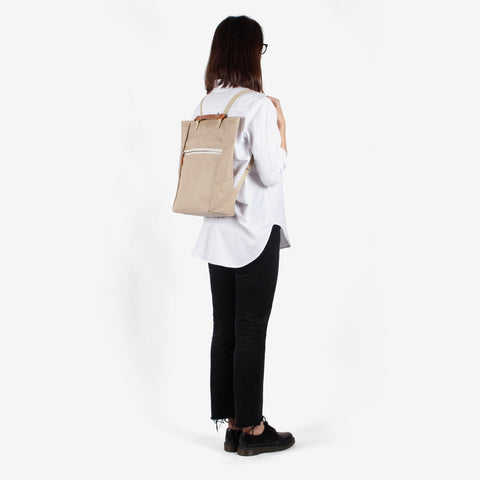 Tote Backpack · Beige