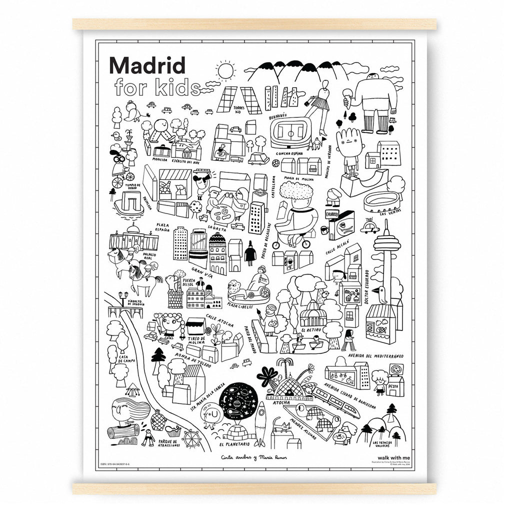 Madrid for Kids Map