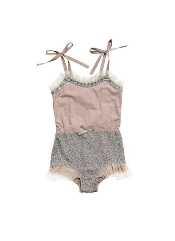Tutu Du Monde Tick Tock Onesie in Cocoa available for rent from The Borrowed Boutique.