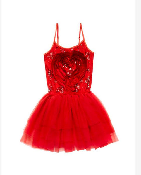 Tutu Du Monde Cupid's Heart Tutu Dress in Rhubarb available for rent from The Borrowed Boutique.