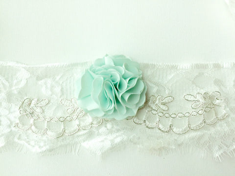 Dollcake Headband in Mint, Aqua, and White
