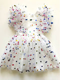 Sadie Then Ty The Tiffany Rainbow Confetti Tulle Party Dress front view