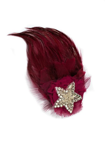 Modern Queen Kids Royal Honor Pin In Raspberry with sparkling beaded star and luxe details.