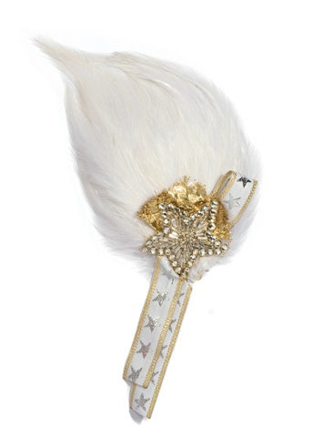 Modern Queen Kids Royal Honor Pin In White with sparkling beaded star and luxe details.