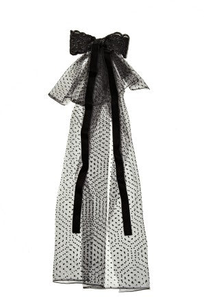 Modern Queen Kids Royal Majesty girl's cape in black with stunning, over-sized fanciful bow and tulle train.
