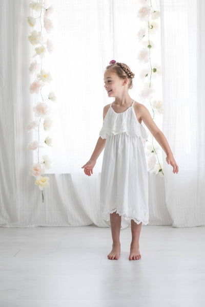 One Little Wildflower Boho Evie Dress in White