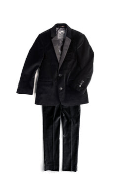 Appaman Suit Jacket In Black Velvet