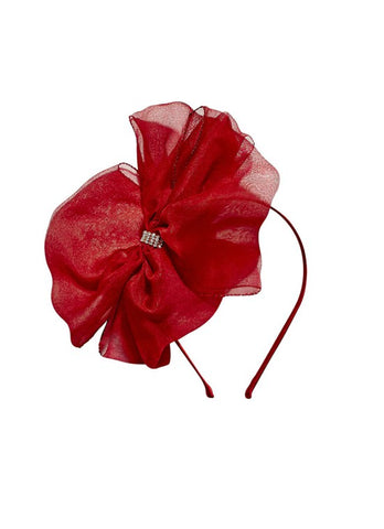 Tutu Du Monde Alice Bow Headband In Holly available for rent from The Borrowed Boutique.